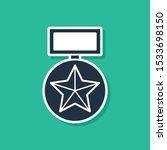 blue military reward medal icon ... | Shutterstock .eps vector #1533698150
