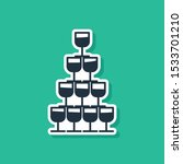 blue wine glasses stacked in a... | Shutterstock .eps vector #1533701210