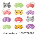 different sleep masks flat... | Shutterstock .eps vector #1533708380