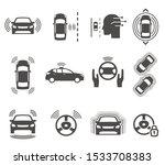 autonomous smart car glyph... | Shutterstock .eps vector #1533708383