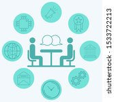 interview vector icon sign... | Shutterstock .eps vector #1533722213
