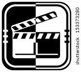 clapper boards web icon design... | Shutterstock .eps vector #153373280