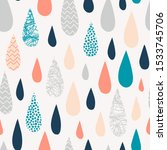 raindrops hand drawn color... | Shutterstock .eps vector #1533745706
