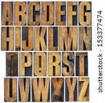 complete english alphabet   a... | Shutterstock . vector #153377474