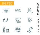 Ecology Icons Line Style Set...