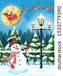 Winter Christmas Background....
