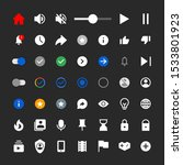 web video player icons  modern...