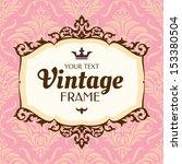 vintage floral frame. great for ... | Shutterstock .eps vector #153380504