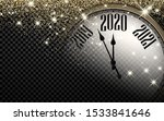 checkered 2020 new year shining ... | Shutterstock .eps vector #1533841646