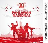 selamat hari pahlawan nasional. ...   Shutterstock .eps vector #1533846920