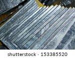 steel plates bunch on the rack...   Shutterstock . vector #153385520