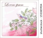 card with a pattern from... | Shutterstock .eps vector #153385904