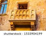 Juliet Capulet's Brick Balcony...