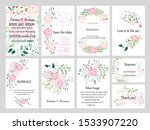 big set of vector cards with... | Shutterstock .eps vector #1533907220