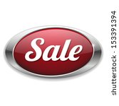 red oval sale button | Shutterstock .eps vector #153391394