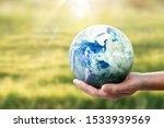 Globe  Earth In Human Hand ...