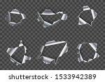 hole in metal. ripped steel ... | Shutterstock .eps vector #1533942389