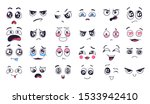funny cartoon faces. face... | Shutterstock .eps vector #1533942410