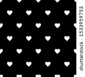 cute black and white heart... | Shutterstock . vector #1533959753