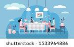 family dinner vector... | Shutterstock .eps vector #1533964886