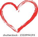 vector red heart shape frame... | Shutterstock .eps vector #1533994193