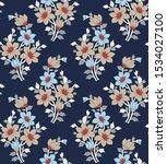 flowers pattern on navy...   Shutterstock .eps vector #1534027100