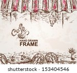 hand drawn cafe background | Shutterstock .eps vector #153404546