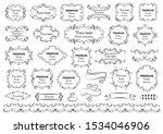 calligraphic design elements .... | Shutterstock .eps vector #1534046906