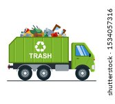 Garbage Truck With Garbage Goes ...