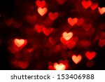 Red Heart Bokeh As Background