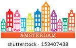 amsterdam skyline | Shutterstock .eps vector #153407438
