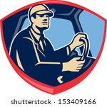 illustration of a bus or truck... | Shutterstock .eps vector #153409166