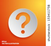 question mark icon on orange... | Shutterstock .eps vector #153411758