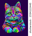cat. hand drawn  abstract ...   Shutterstock .eps vector #1534122440