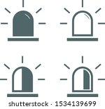siren icon set. vector... | Shutterstock .eps vector #1534139699