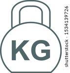 weight kilogram icon. vector... | Shutterstock .eps vector #1534139726
