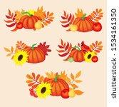 vector hand drawn set of happy...   Shutterstock .eps vector #1534161350