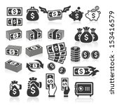 set of money icons. vector... | Shutterstock .eps vector #153416579