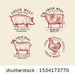 Meat Set Of Labels. Butcher...