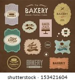 collections of bakery design... | Shutterstock .eps vector #153421604