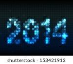 year 2014 made from lighting...   Shutterstock .eps vector #153421913