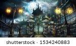 Halloween Dark Castle With Full ...