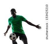 one african man soccer player... | Shutterstock . vector #153425210
