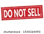 do not sell sign or stamp on... | Shutterstock .eps vector #1534264493