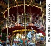 Macro Photo Carousel Horse. ...