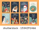 set of christmas and happy new... | Shutterstock .eps vector #1534291466