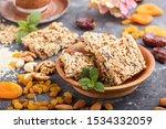 homemade granola from oat... | Shutterstock . vector #1534332059