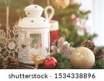 Christmas Decoration With White ...
