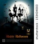 halloween poster  | Shutterstock .eps vector #153434003