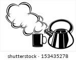 teapot and cup | Shutterstock . vector #153435278